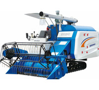 4LZ-4.0B of combine harvester with rubber track in high quality in agri machinery machine manufacturers