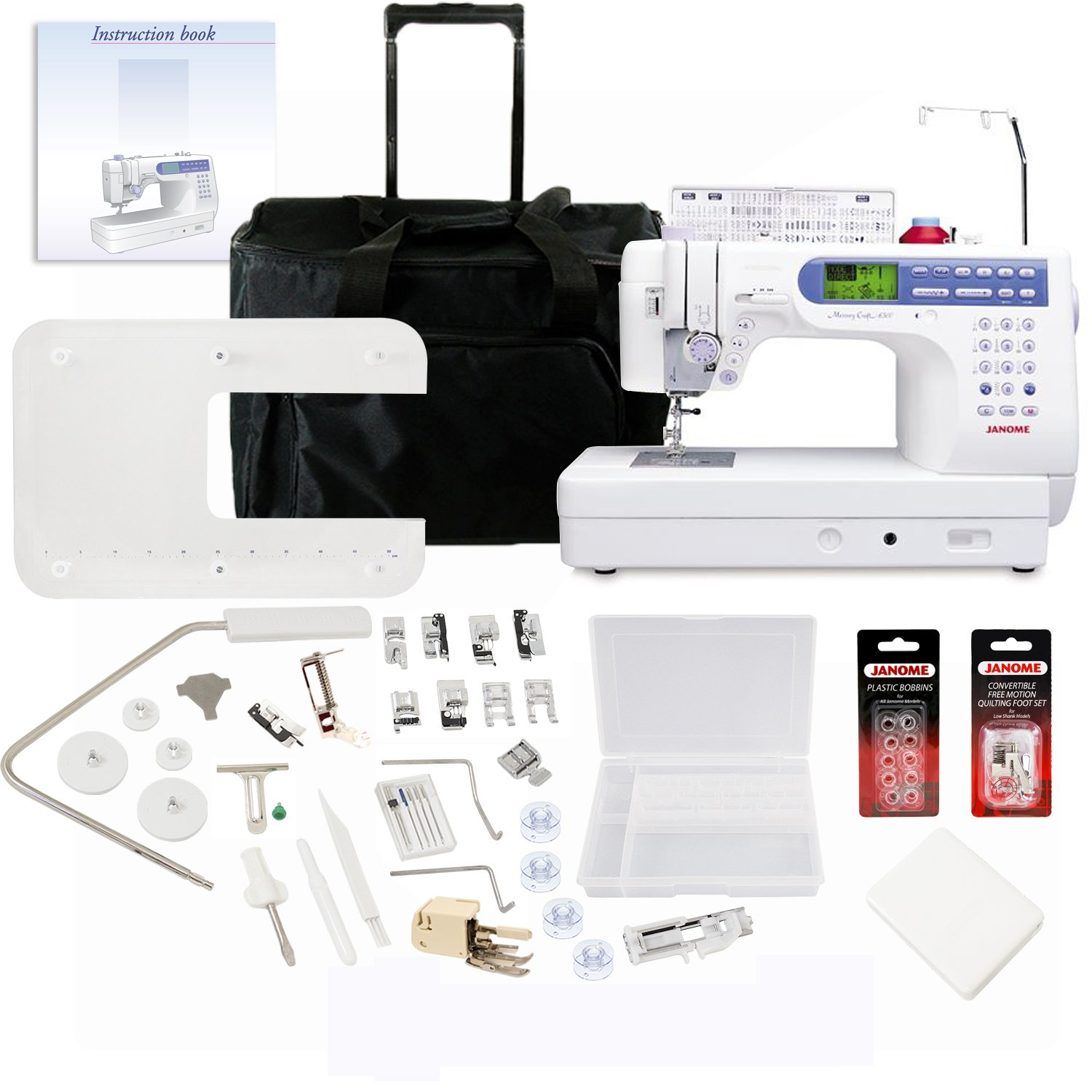 Get Quotations · Janome Memory Craft 6500P Sewing Machine With Exclusive  Bonus Bundle