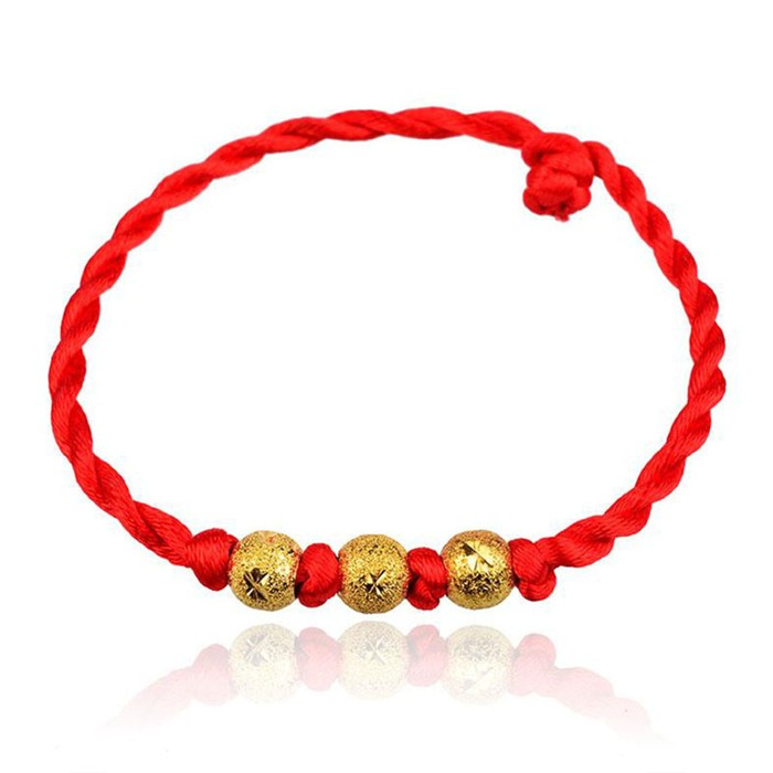 Cheapest price factory wholesale gold and silver lucky red string rope bracelet фото