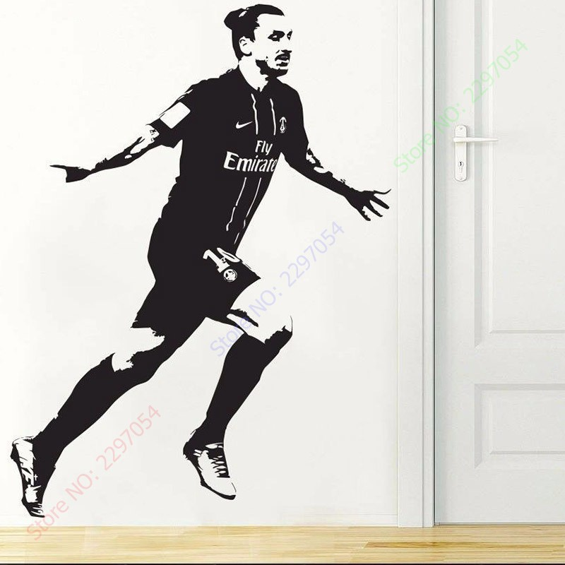 Poster Zlatan Ibrahimovic Psg Soccer Football Vinyl Wall Sticker Wall Decal Home Decor Wallpaper Wall Mural Art Decor Wallpaper Sticker Wall Decalwall Decals Aliexpress