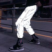 2020 New Fashion 3M Reflective Sports Pants Hip Hop Jogger Casual Pants Custom Track Pants Mens with logo