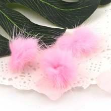 10 шт 23 цвета 2,5 ~ 3 см норковые помпоны меховые шарики для шитья на вязаном брелке шарф обувь шапки мех поделки аксессуары для волос(Китай)