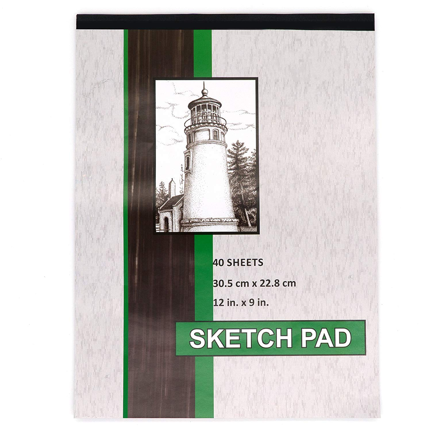 Emraw 40 Sheets Sketch pad Artist Pro - Art Pad for Sketching Ink Sketch Book, Coloring Notebook Spiral Notebook Drawing Paper, Drawing Pad Art Supplies