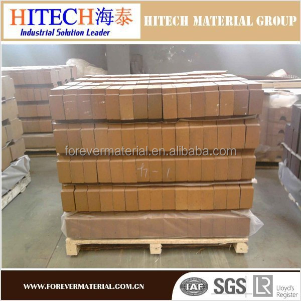 Good price Zibo Hitech straight dense magnesite refractories bricks for glass regenerative chamber