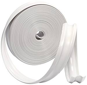 Camco 25103 Vinyl Trim Insert (1 x 25', White) by Camco