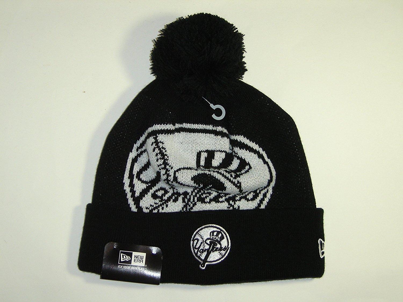 f9092ac63d2 Buy New Era MLB New York Yankees Big Logo Black Cuffed Knit Beanie Cap with  Pom NewEra in Cheap Price on m.alibaba.com