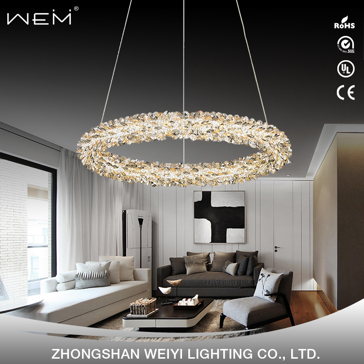 Best Selling Wedding decor Hanging pendant Light Modern Luxury K9 Crystal Indoor Led Light Chandelier light