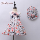 Manufacturer wholesale summer Children Clothing baby girls party dress with hat