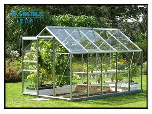 Steel And Glass Used Commercial Garden Greenhouses For Sale