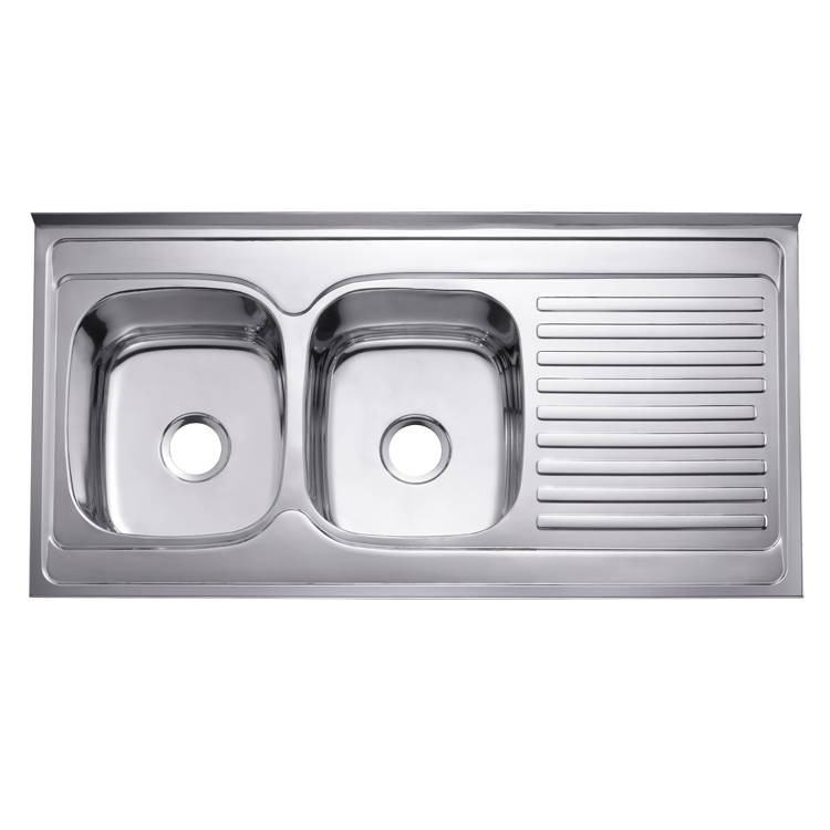 Wholesale Fancy Satin Finish Topmount Stainless Steel Large Double Bowl Kitchen Sink