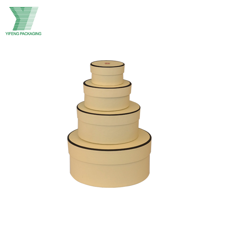 Yifeng custom cardboard ring/necklace packaging paper round boxes for jewellery