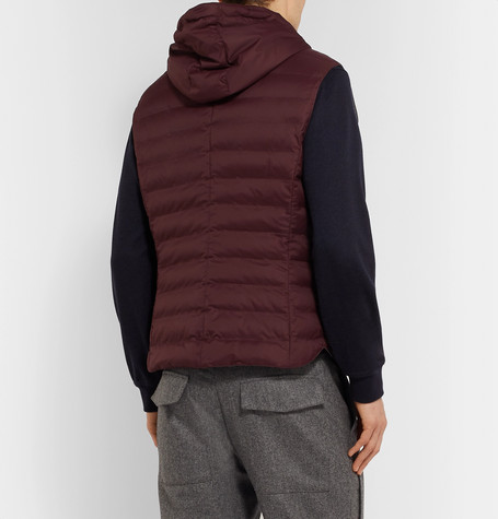 Quilted Nylon Hooded Gilet for men New Fashion