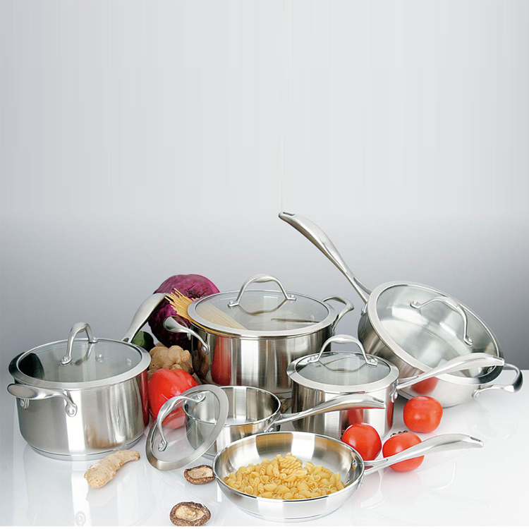 Wholesale Stainless Steel cooking pot cookware set
