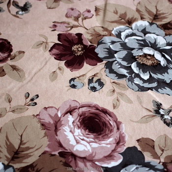 Polyester Hangzhou Textile Flower Printed Sofa Fabric Border Print Small Poly Product On