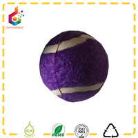 Mixed colors printed pet toy dog elastic ball