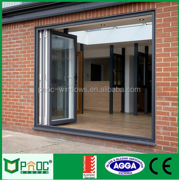 Balcony Insulated French Bi-Folding Door, Exterior Aluminium Folding Doors
