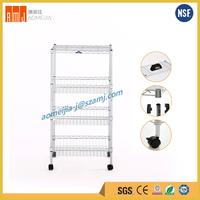NSF certificate multi-purpose kitchen storage 3 tier utility cart with wheel