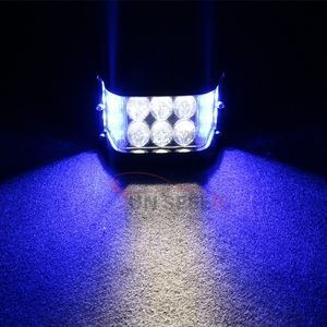 Best Price Ever Auto Driving Light With Side Shots , Offroad Truck Parts Car Bursh Flashing Light 7D Light Bar