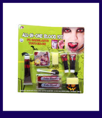 Zombie Halloween pirate make up kit