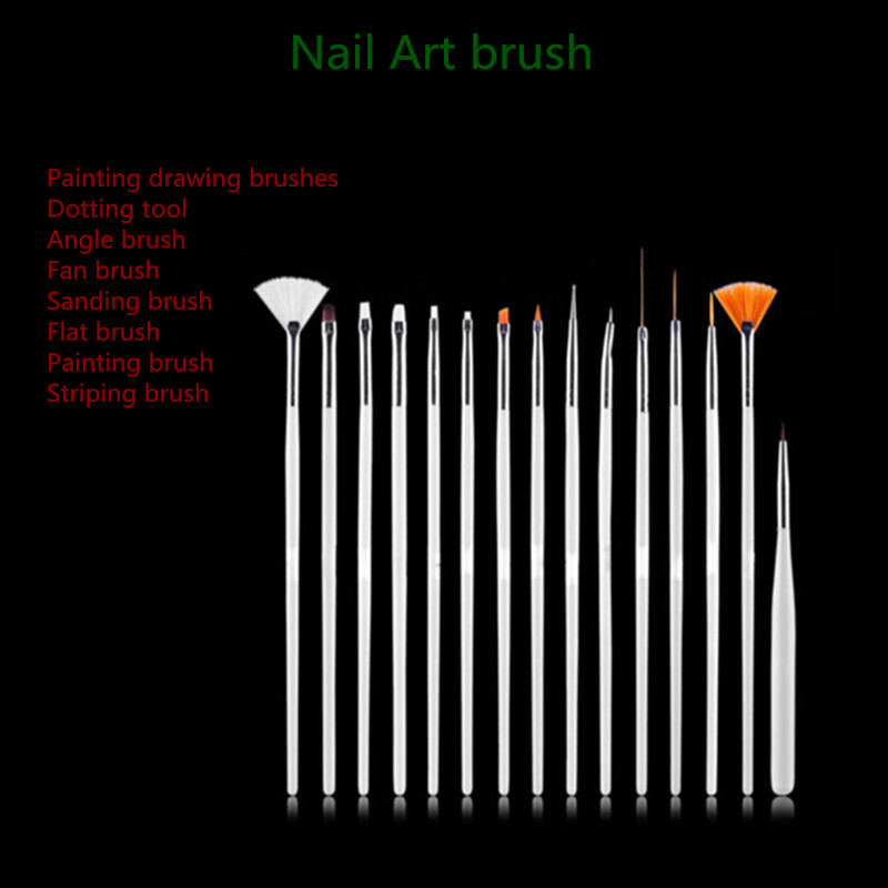 Fashion Nail Art Drawing Tools Of Wooden Nail Brush Set