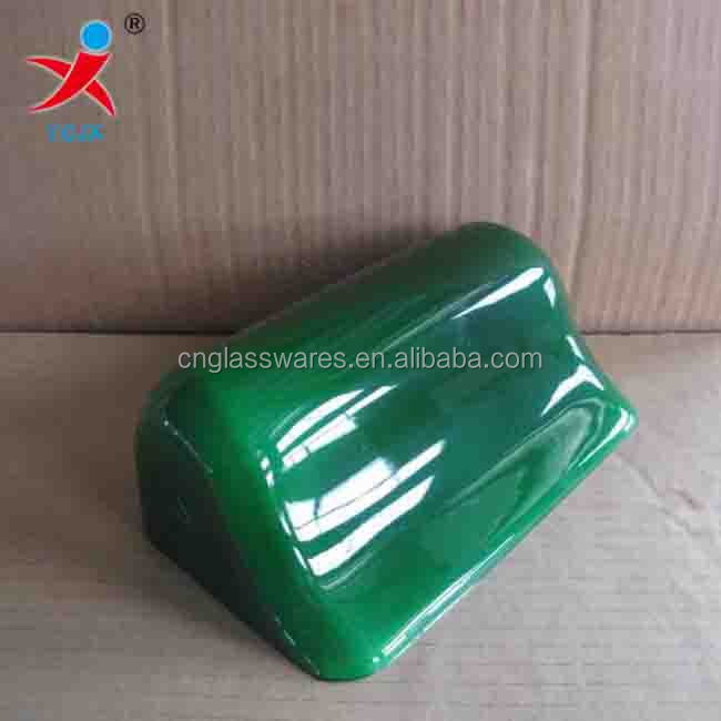 Factory directly sell hand blown green colored glass bank lampshade
