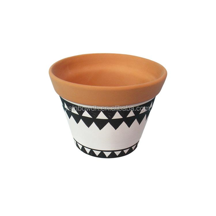 Terracota Desenho Colorido Vaso De Flor Plantador De Maconha Buy