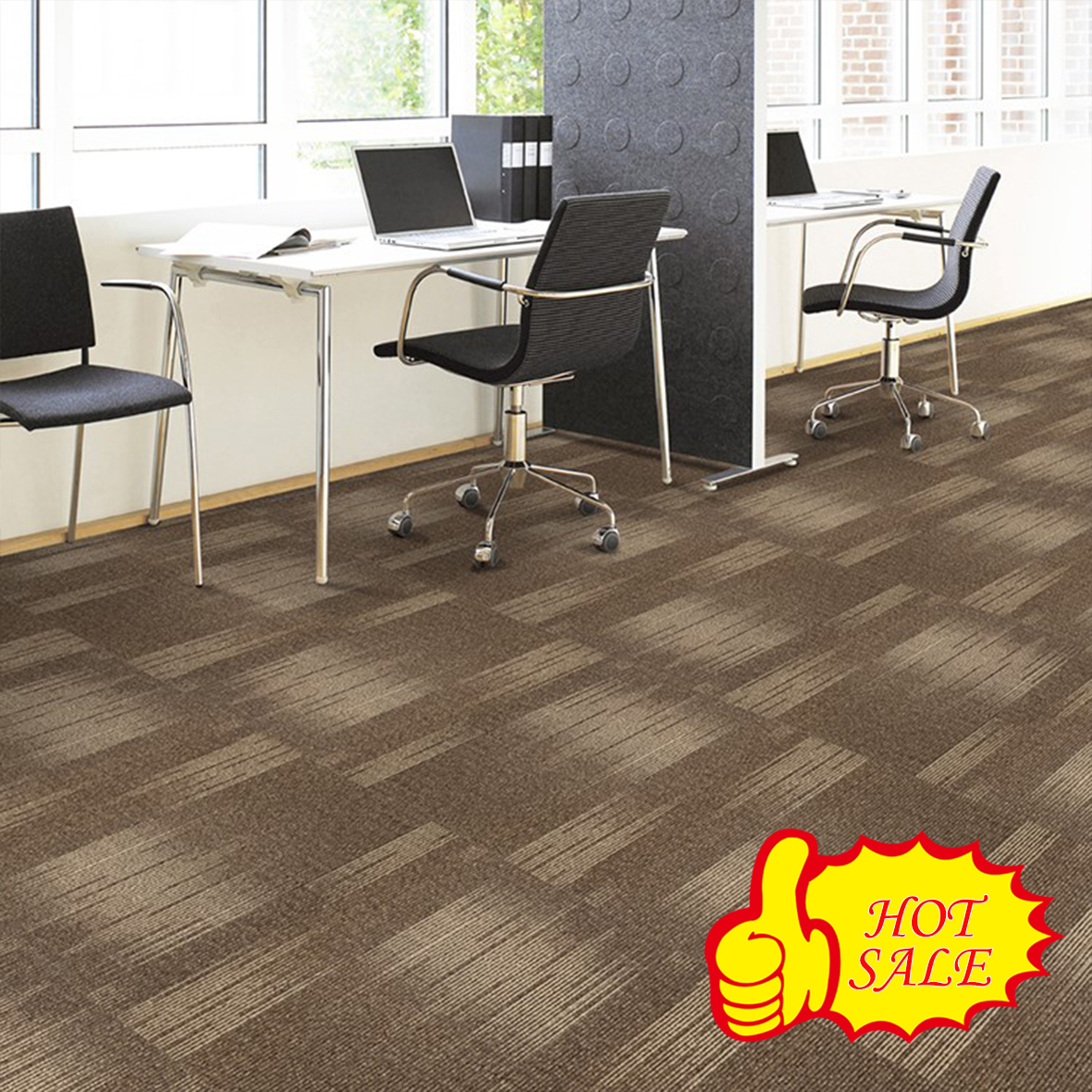 Bright Color Jacquard Designed Nylon club carpet tile