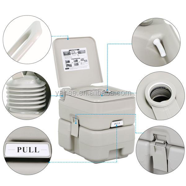5 Gallon 20 L Portable Toilet Flush Caravan Travel Camping Hiking Outdoor Indoor Potty