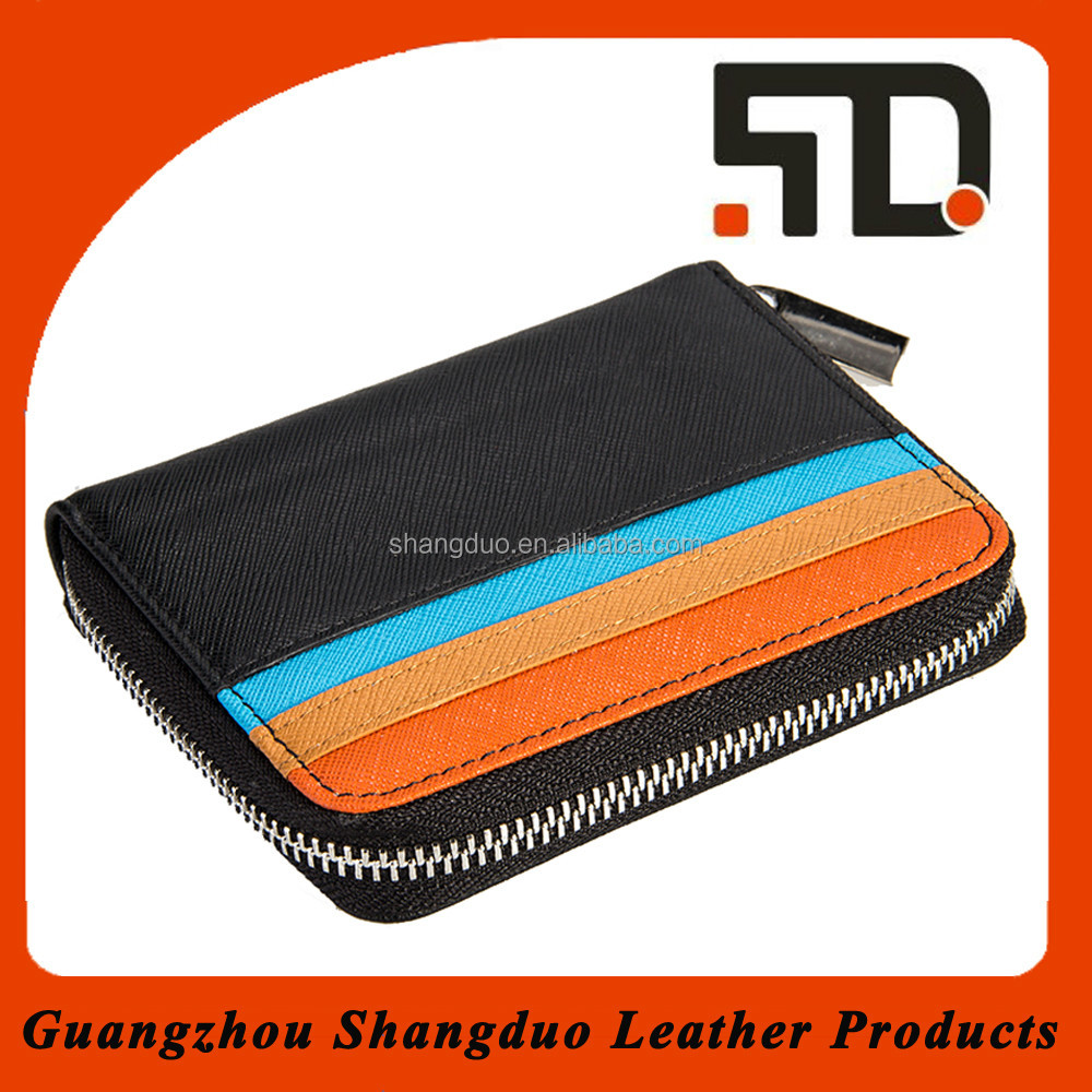 Brand Supplier Colourful Design Zipper Leather Fancy Coin Purse