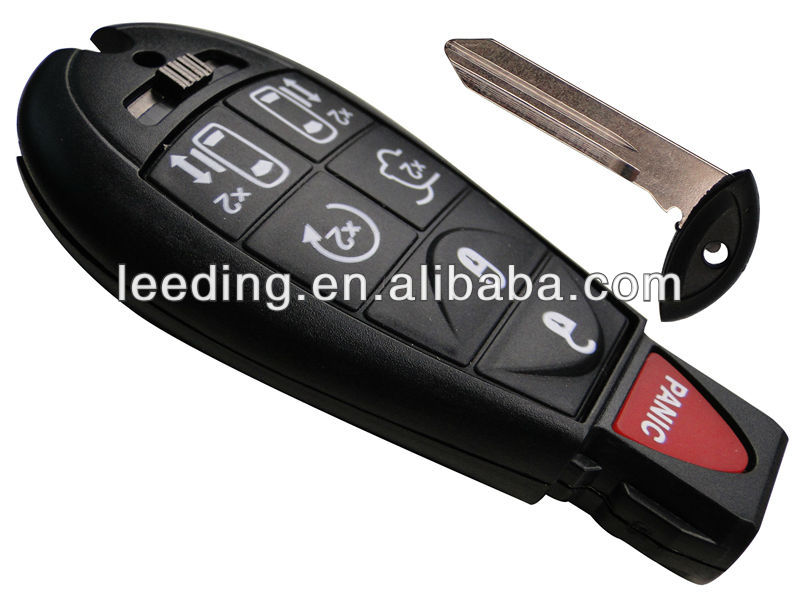 Black Chrysler Car Remote <strong>Key</strong>, Entry FOB Transmitter With Seven Buttons, Smart <strong>Key</strong> Shell(CH0009)