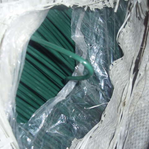 PVC Coated Galvanized Wire Green PVC Coating 바인딩 Tie 선 PE 코팅 걸이 Wire