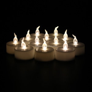 Warm white color LED Flameless Tealight Candle/CR2032 battery operated Warm white flicker LED Tea Candle light