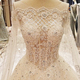 LS97843 3d diamond beads organza bridal dress with beading new design beaded wedding dress