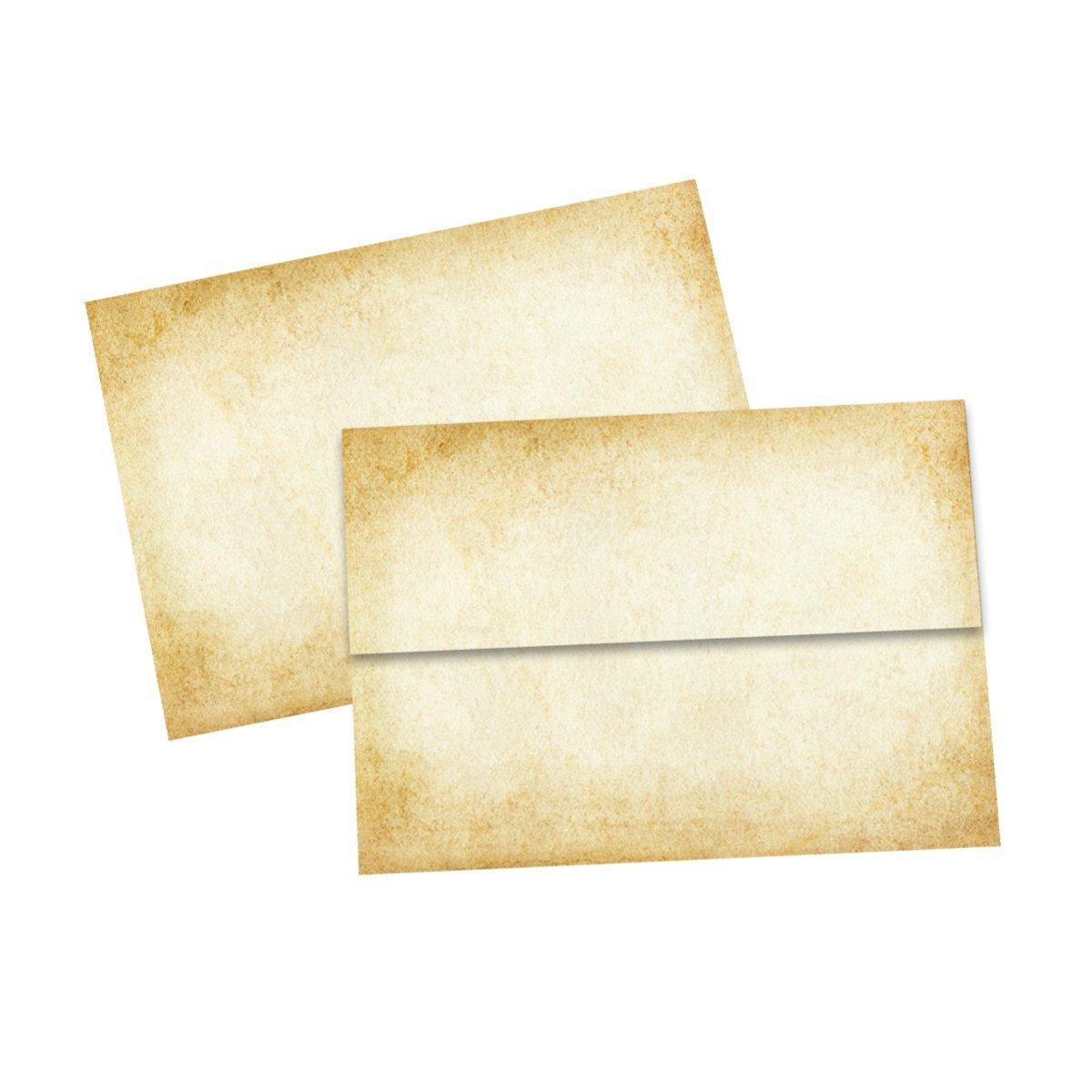 Aged Vintage-style Parchment Envelopes A6 size