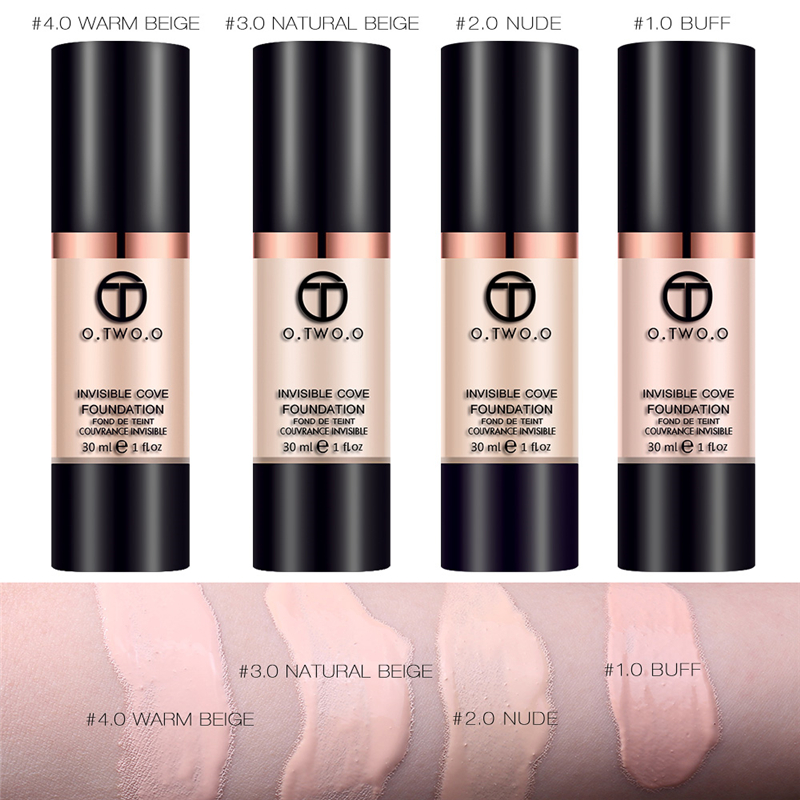 O.TWO.O Make Up Liquid Foundation Concealer Whitening Moisturizer Oil-control Waterproof Liquid Foundation