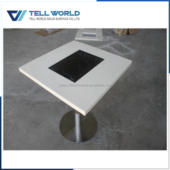 Modern Stone Coffee Table, Touch Screen Coffee Table