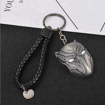 American movie accessories captain America 3 black panther mask key chain