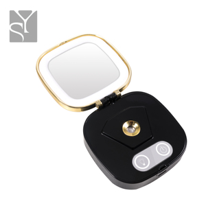 Private label nano mister facial steamer make up led mirror