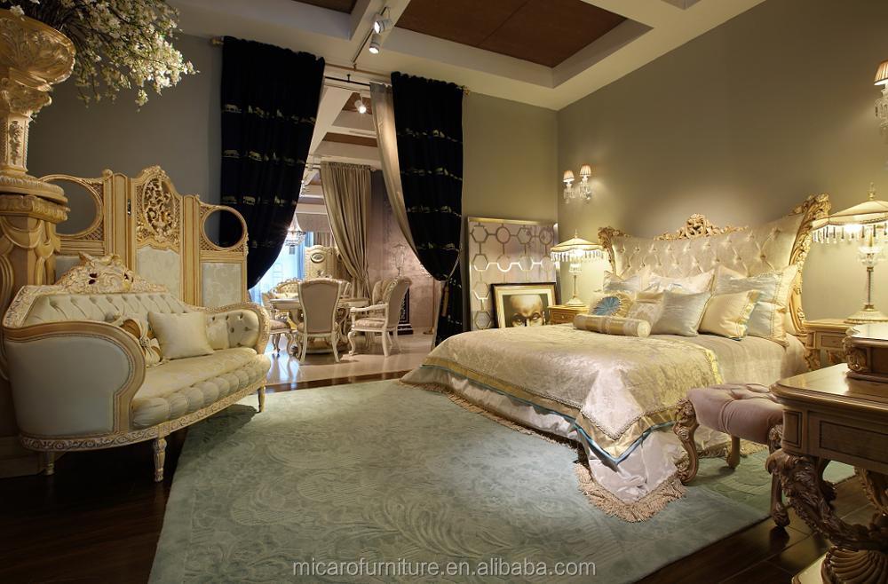 Letti Classici Di Lusso : Mobili di lusso mobili royal antique gold set camera da letto