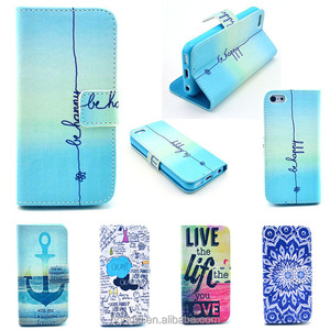 Flip Wallet PU Leather Case For Samsung Galaxy S3 S4 S5 S6 S7 Edge note 8 Cover Painted Stand Phone Cases Capa