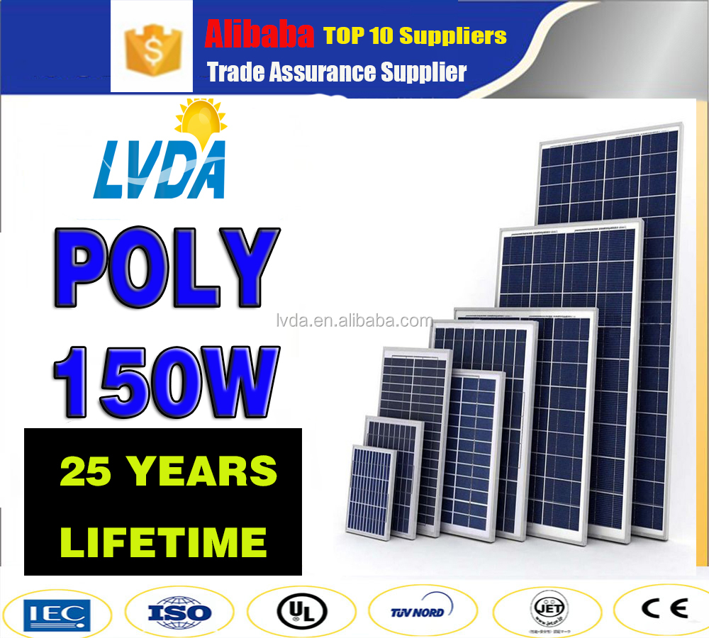 Factory Price Factory Direct Sale 150w poly solar panel in Philippine market hot selling 150w solar panel poly module