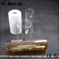 Pure white cylinder kids like glass lamp shade for table lamps decorative