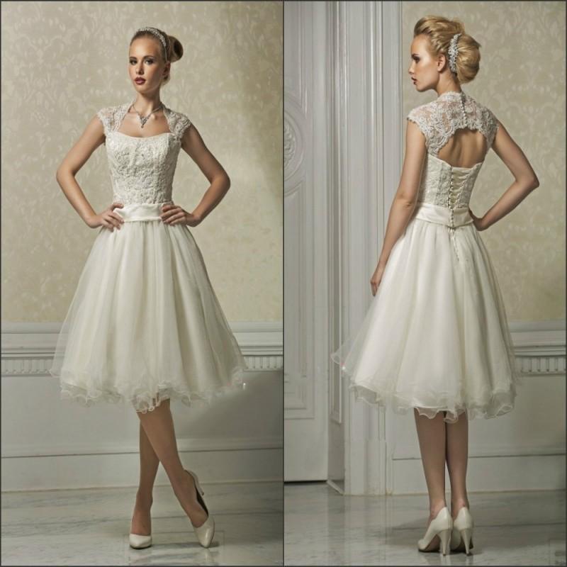 Vintage Brautkleid Spitze Kurz Modische Modelle Von Kleidern In
