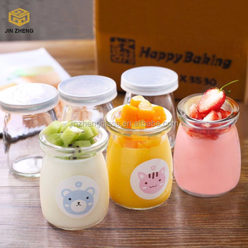 Cute Jam Pudding Glass Jar Yogurt Container Buy Pudding Glass Jar