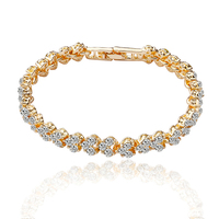 Charm Lady Diamond Gold 18k Luxury Plated Manufacturer Crystal Bracelet