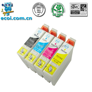 compatible for epson stylus C58, ME2/ME200, T0761 inkjet cartridge T0762-T0764 from factory