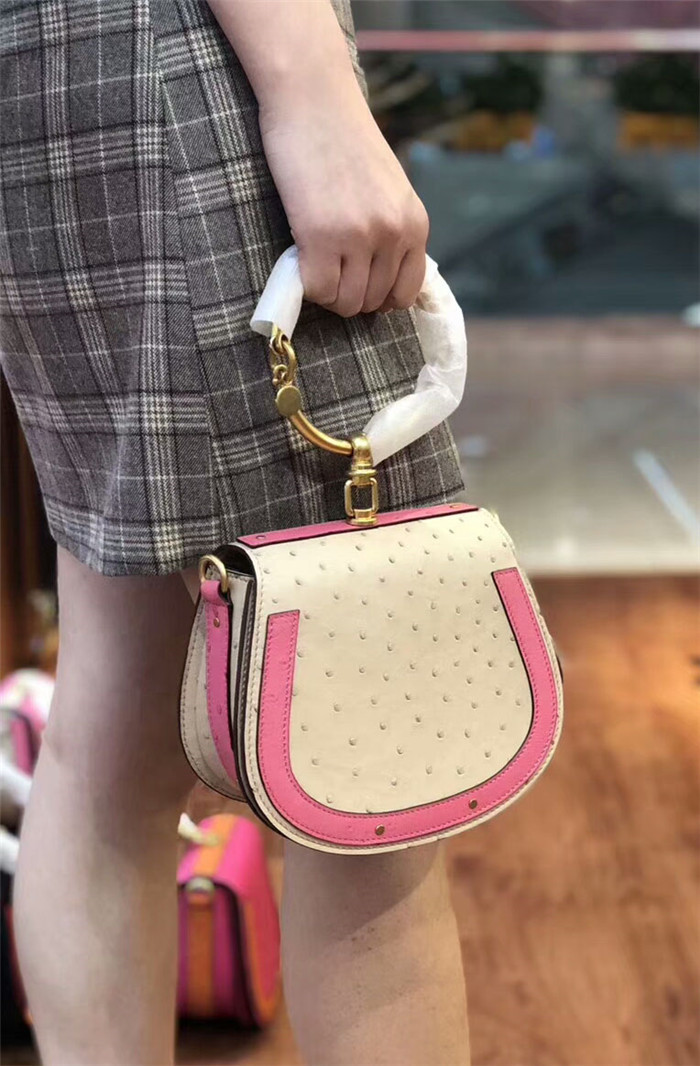 Guangzhou bag factory genuine ostrich leather fashion designer bag women bag handbags
