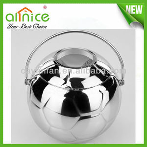 New world cup brazil 2014 football ice bucket/stainless steel ice bucket/silver plated champagne bucket