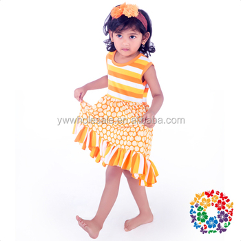 2016 Kid Baby Dress Wholesale Sleeveless Girl Casual Frocks Cotton & Polyester Frock Design For Baby Girl