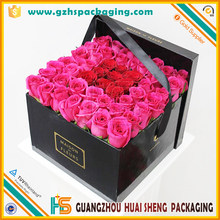 Wholesale Paper Custom Shape Flower Box with Lid and Ribbon